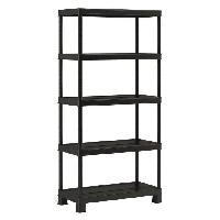 Etabli - Systeme Perfo - Armoire - Mobilier Atelier Etagere de rangement Plus Shelf Tribac 90 5 - 90 x 45 x 182 cm - Noir