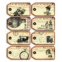 Etiquette - Etiquette De Classement Pack de 8 Tags Vintage