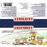 Etiquette Alimentaire LEIFHEIT Etiquettes de decoration pour bocaux - Noir et blanc
