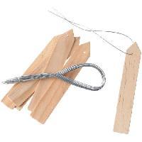 Etiquette Plante - Marque Plante Etiquettes en bois -teinte naturel- a suspendre