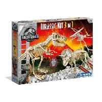 Etude Histoire - Geographie - Archeologie Archéo Ludic Jurassic World - Coffret 3 en 1 - Clementoni