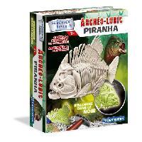Experience Scientifique - Physique-chimie CLEMENTONI Archéo Ludic - Piranha Phosphorescent - Science & Jeu