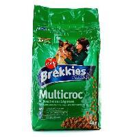 Extrude - En Granule BREKKIESCroquettes boeuf et legumes Multicroc - Chien - 4 Kg