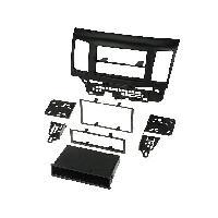 Facade Autoradio Facade Autoradio 1Din compatible avec Mitsubishi Lancer II - 08-10 - Noir - avec vide-poche