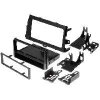 Facade Autoradio Facade autoradio 1DIN compatible avec Toyota Corolla ap08 - Noir - avec vide-poche