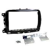 Facade Autoradio Facade autoradio 2DIN compatible avec Fiat 500 ap15 sans nav - Noir