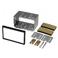 Facade Universelle Kit 2Din Universel UNI5 118x188.5mm pour Citroen Ford Mercedes Peugeot Renault ADNAuto