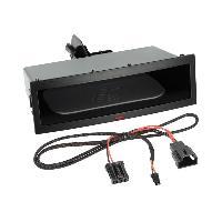 Facade Universelle Vide poche autoradio Induction Qi Noir compatible avec Citroen Fiat Peugeot Toyota