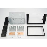 Facade autoradio Audi Kit 2DIN pour Audi A4 ap07 - noir