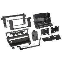 Facade autoradio BMW Kit 2DIN pour BMW serie 3 E46 - Facades autoradio et 1 bouton - Noir - ADNAuto