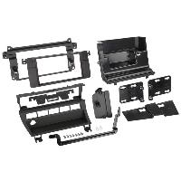 Facade autoradio BMW Kit 2DIN pour BMW serie 3 E46 - Facades autoradio et 5 boutons - Noir - ADNAuto