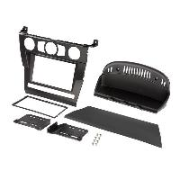 Facade autoradio BMW Kit Cadre 2Din pour BMW Serie 5 E60 03-07 - Noir