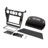 Facade autoradio BMW Kit Cadre 2Din pour BMW Serie 5 E60 03-07 - Noir - ADNAuto