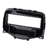 Facade autoradio Citroen Facade Autoradio FA336 compatible avec Citroen C1 Peugeot 108 Toyota Aygo Noir brillant