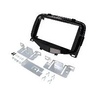 Facade autoradio Citroen Kit Facade autoradio KF336B compatible avec Citroen C1 Peugeot 108 Toyota Aygo - Noir brillant 2Din