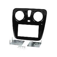 Facade autoradio Dacia Kit 2DIN compatible avec DACIA SANDERO ap13 NOIR LAQUE
