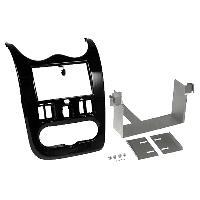 Facade autoradio Dacia Kit 2Din compatible avec Dacia Duster Sandero 08-12 Logan ap11 Marron brillant