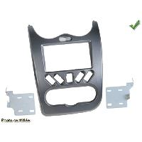 Facade autoradio Dacia Kit 2Din pour Dacia Duster 10-13 Sandero 08-12 - Gris Fonce