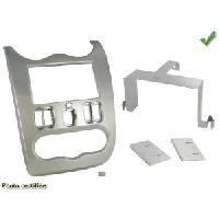 Facade autoradio Dacia Kit 2Din pour Dacia Duster Sandero 08-13 - Gris clair - ADNAuto