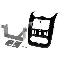 Facade autoradio Dacia Kit 2Din pour Dacia Duster Sandero 08-13 - Marron -Sienna Shiny-