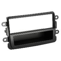 Facade autoradio Dacia Support Autoradio 1Din pour Dacia Dokker ap12 Avec vide-poche - Noir Generique