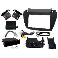 Facade autoradio Dodge Kit facade autoradio compatible avec Dodge Charger 11-14 - Noir mat - avec boutons