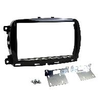 Facade autoradio Fiat Facade autoradio 2DIN compatible avec Fiat 500 ap15 sans nav - Noir