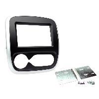 Facade autoradio Fiat Facade autoradio 2DIN compatible avec Fiat Talento ap16 clim automatique - Noir Argent