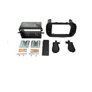 Facade autoradio Fiat Kit 2 Din pour FIAT 500 07-15 Noir Mat Generique
