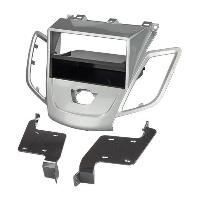 Facade autoradio Ford Facade autoradio FA277W compatible avec Ford Fiesta 08-13 - Sans Ecran - Argent - avec vide poche