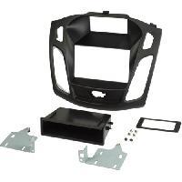 Facade autoradio Ford Kit 2DIN compatible avec Ford Focus 2011 avec vide-poche - Noir