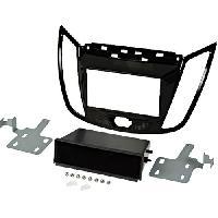 Facade autoradio Ford Kit 2Din compatible avec Ford C-MAX ap10 Ford Kuga ap13 Avec vide poche - Noir brillant