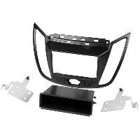 Facade autoradio Ford Kit 2Din compatible avec Ford C-Max-DXA- ap10 Ford Kuga-DM2 Facelift- ap13 - Noir mat