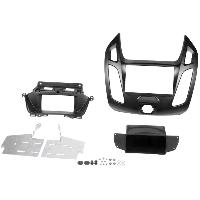 Facade autoradio Ford Kit 2Din compatible avec Ford Tourneo Connect Ford Transit Connect ap13- noir mat