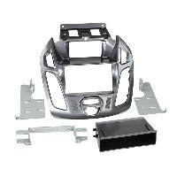 Facade autoradio Ford Kit 2Din compatible avec Ford Tourneo Transit Connect ap13 Avec ecran - vide poche - Gris Nebula