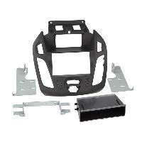 Facade autoradio Ford Kit 2Din compatible avec Ford Tourneo Transit Connect ap13 Avec ecran - vide poche - Noir