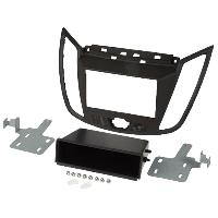 Facade autoradio Ford Kit 2Din pour Ford C-MAX ap10 - brun fonce ADNAuto