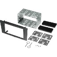 Facade autoradio Ford Kit 2Din pour Ford Mondeo 03-07 - argent fonce - ADNAuto