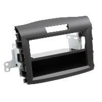 Facade autoradio Honda Facade autoradio 2DIN compatible avec Honda CR-V ap12 Avec vide poche Induction Qi Noir Rubber touch