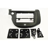 Facade autoradio Honda KIT 2 DIN compatible avec HONDA JAZZ ap13 GRIS METAL