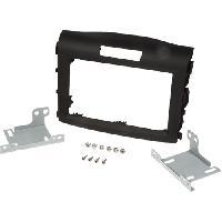 Facade autoradio Honda Kit 2DIN pour Honda CR-V ap12 - noir rubber-touch - ADNAuto