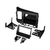 Facade autoradio Honda Kit Facade autoradio 1 DIN compatible avec Honda Civic 06-10 avec vide poche - gris