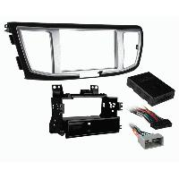 Facade autoradio Honda Kit Facade autoradio compatible avec Honda Accord 13-17 - Noir Argent - Avec boitier reprise ecran