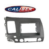 Facade autoradio Honda Kit integration 2DIN pour Honda Civic Hybrid 06-08 - Gun Metal Grey - Caliber