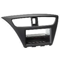Facade autoradio Honda Support autoradio compatible avec Honda Civic ap12 Avec vide poche Induction Qi Noir
