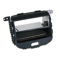 Facade autoradio Hyundai Facade 2DIN pour Hyundai i10 08-13 Vide poche Induction Qi Noir Rubber touch Generique