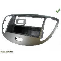 Facade autoradio Hyundai Facade autoradio 1DIN pour HYUNDAI I10 ap11 ARGENT avec vide poche