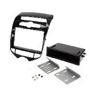 Facade autoradio Hyundai Facade autoradio 1DIN pour Hyundai ix20 ap10 - Noir brillant - avec vide-poche