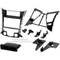 Facade autoradio Hyundai Kit 1Din ou 2Din pour Hyundai Sonata 11-13 - clim auto - noir et argent - ADNAuto
