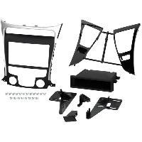 Facade autoradio Hyundai Kit 1Din ou 2Din pour Hyundai Sonata 11-13 - clim manu - noir et argent -